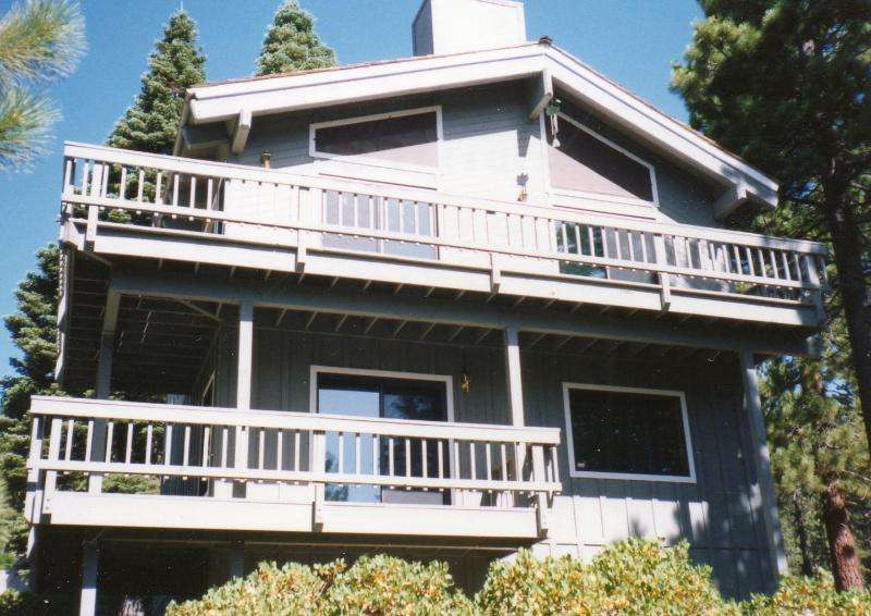 Lake Tahoe Mountain Home with lake views! 3rd floor master suite and its private deck not pictured.