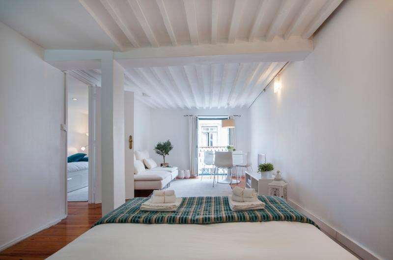 Bright lounge with view to historic centre and Lisbon's Castle - Apt in heart of historic centre with balcony - Lisbon - rentals