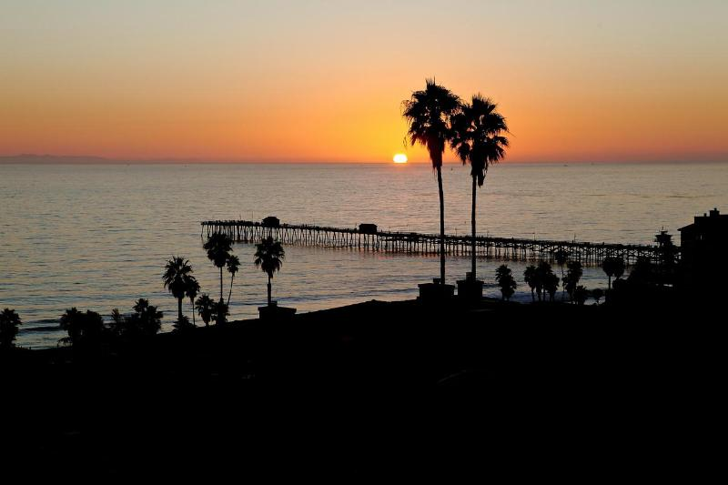 Sunset in San Clemente! Photo taken from upper deck dining table