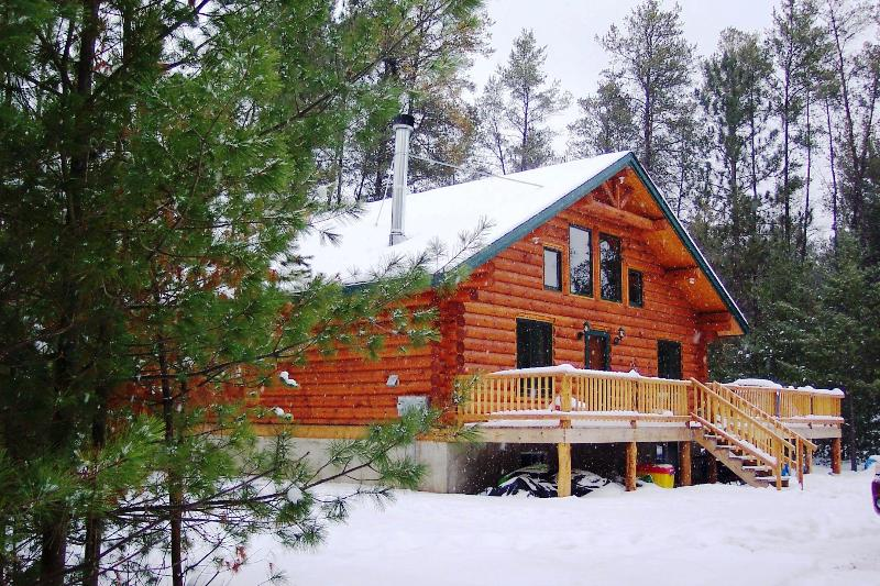 Buckhorn Lake Cabin in the winter