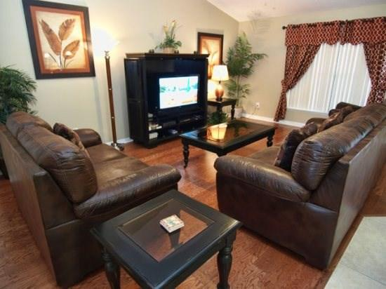 View of Living Area with Flat Screen TV