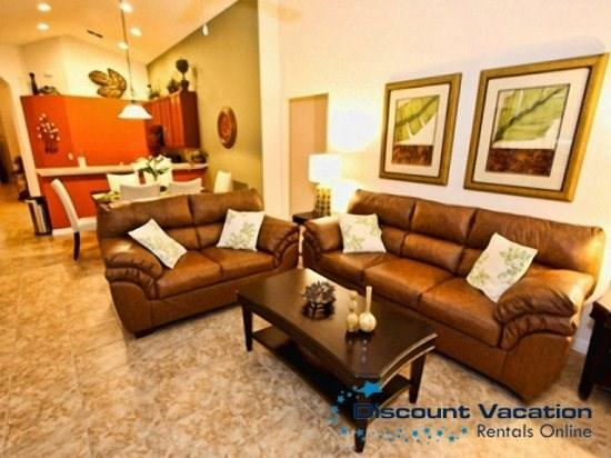 Living Area - VP4P4452NP Disney Themes 4 BR Pool Home with a View - Kissimmee - rentals