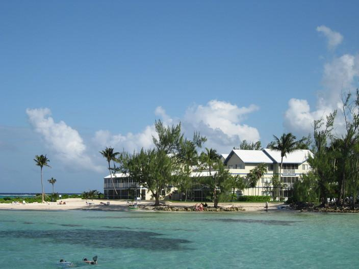 Our spectacular beach with trees for shade