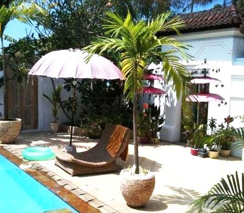 Lazing by the pool - Sanur Bali Coconut Oasis Villa Sleeps 8 - Sanur - rentals