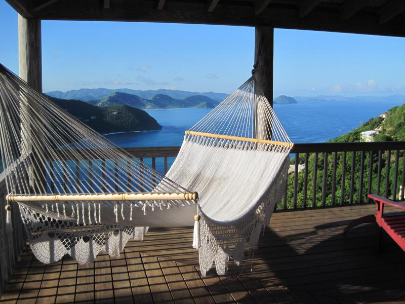 Hammock view from Makere House covered wrap-around deck
