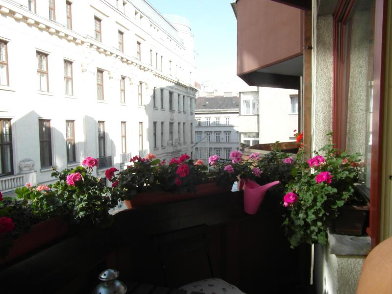 view from the terrace of the famous Vaci pedestrian street