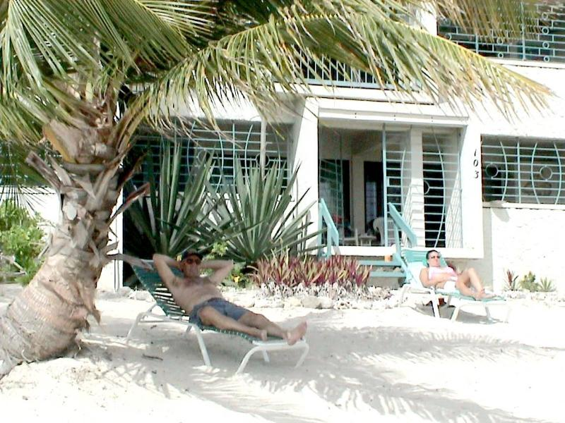 Relax in front of Unit # 103 Sugar Beach