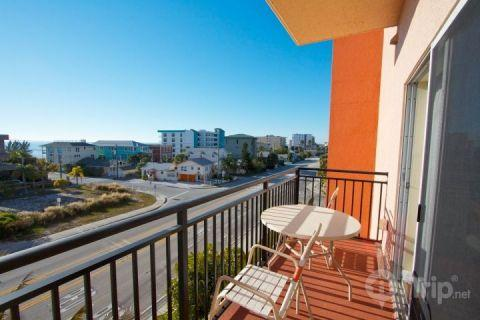 Private balcony looking out to the Gulf.  Madeira Bay Resort is alongside of Gulf Blvd. with easy acce