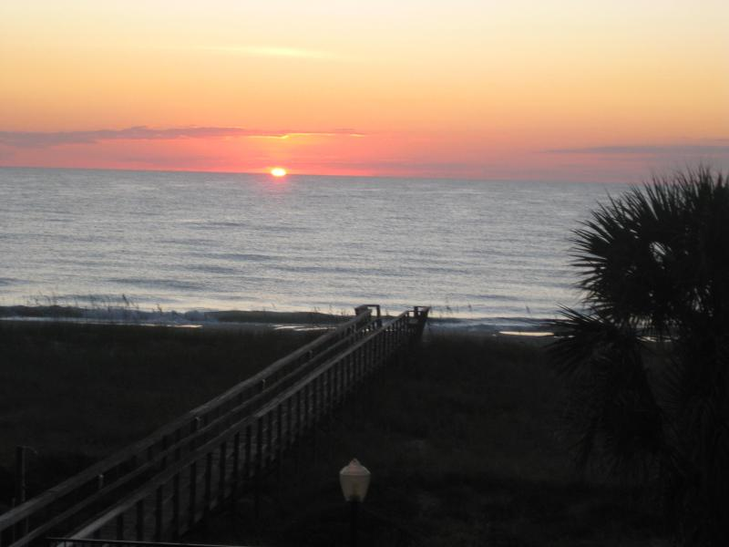 VIEW of sunrise :) From the spacious balcony