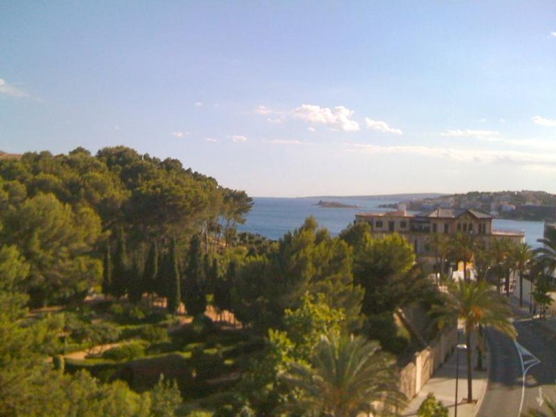 View of the sea from the balcony - Marivent seaview apartment - Palma de Mallorca - rentals