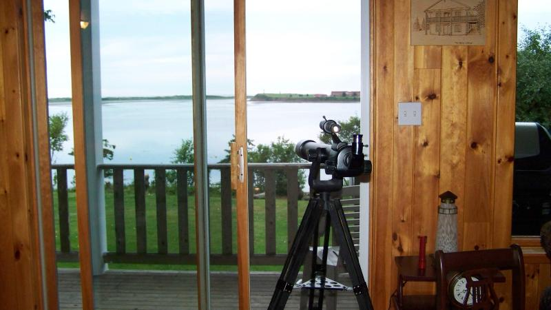 View from inside the Beach House