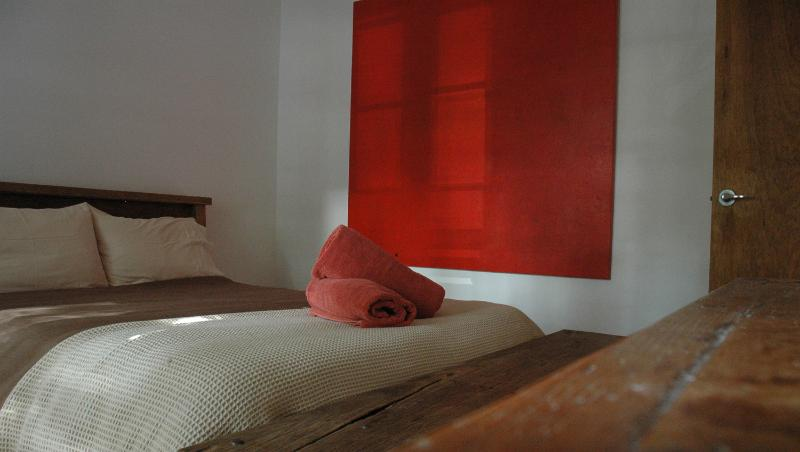 Red Rooms - Huge artworks throughout add that touch of luxury.
