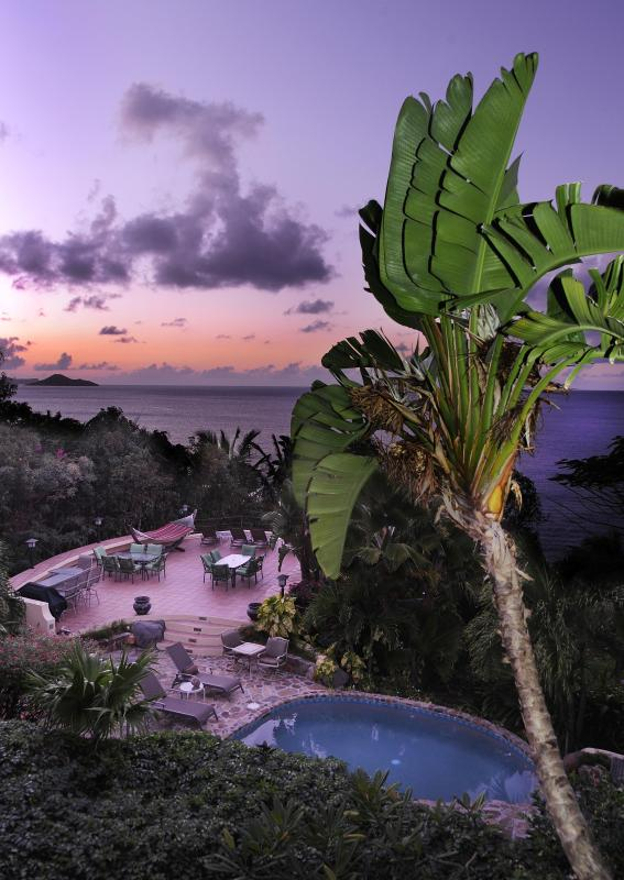 Stunning sunsets are guarenteed each night from the wrap around deck at Sunset Watch beachside villa