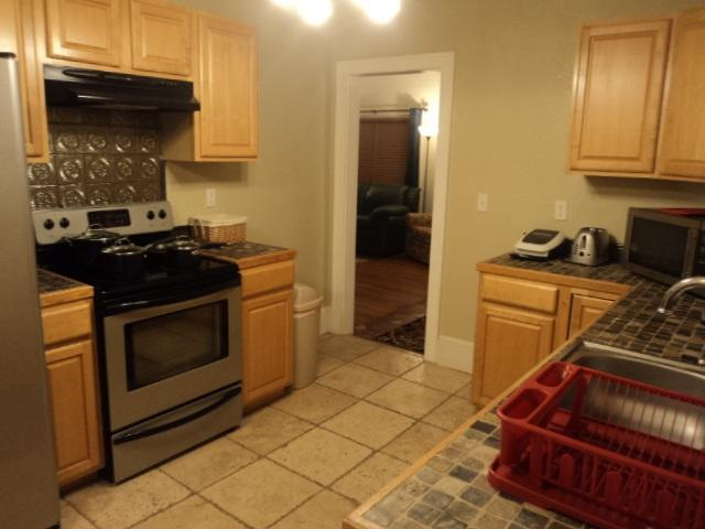 Kitchen on 1st floor with view to Dining Room & Living Room