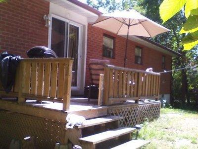 Back Deck with Umbrella and Barbecue