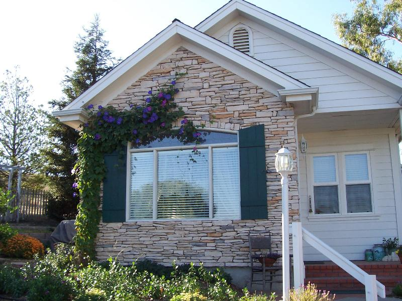 Front of cottage in summer