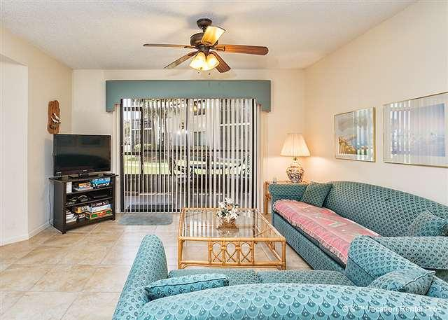 After the beach and the pool, relax and watch our HDTV! - Ocean Village J16, Ground Floor Unit, Screened Lanai - Saint Augustine - rentals