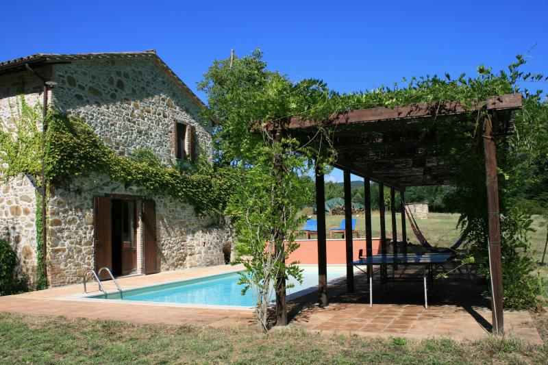 House, pool and pergola