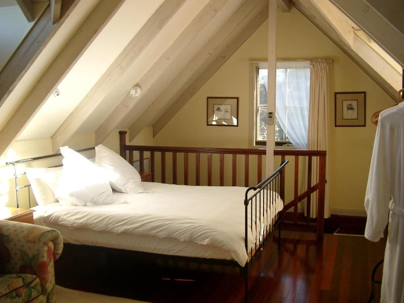 Upstairs QS bed with above bed lighting