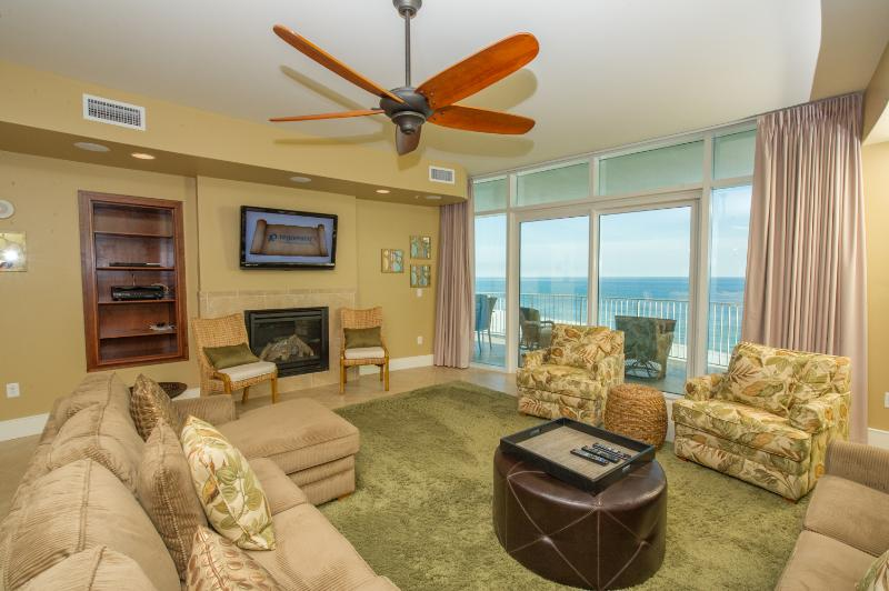 Luxury Beachfront Living Area with Balcony Access!