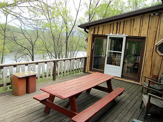View from Captain's Deck.  800' of private riverfront property with no nieghbors!  Just forest.