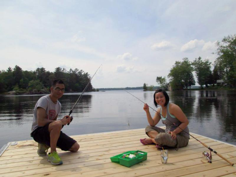 Fishing at our dock - Summer Fun at the Lake (Trenanthia Cottage) - Gravenhurst - rentals