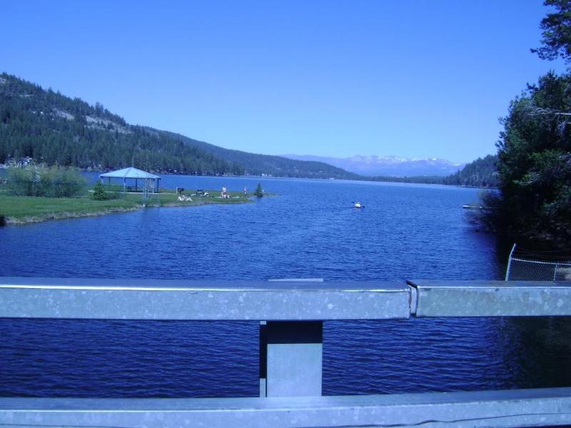 Donner Lake view from Donner Creek Bridge