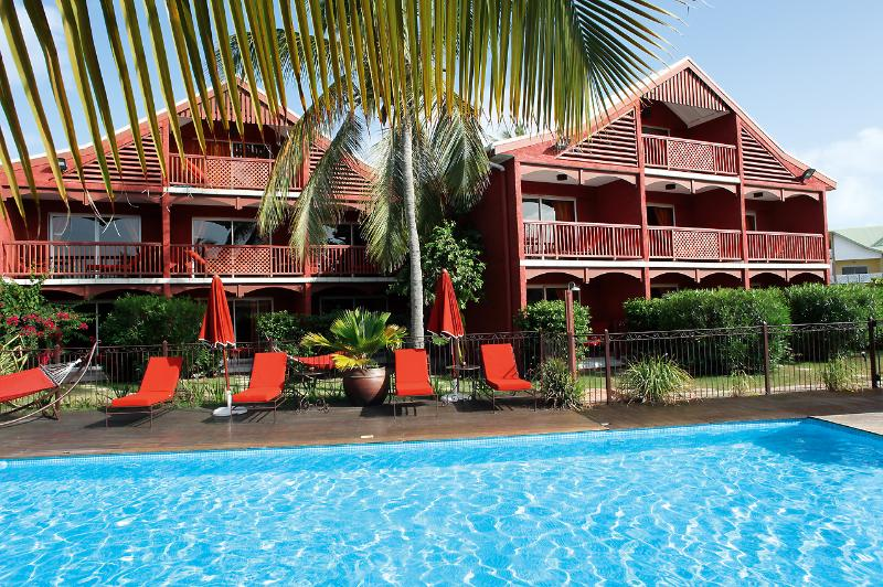 Hotel Palm Court, Orient Beach, St Martin... charming oasis just 200 easy yards from the beach