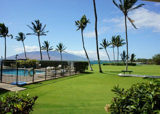 Walk right out the ground floor doors of Kihei Surfside #106 to the wonderful pool and ocean front lawn! - Oceanfront with Ground Floor Convenience (KS106) - Kihei - rentals