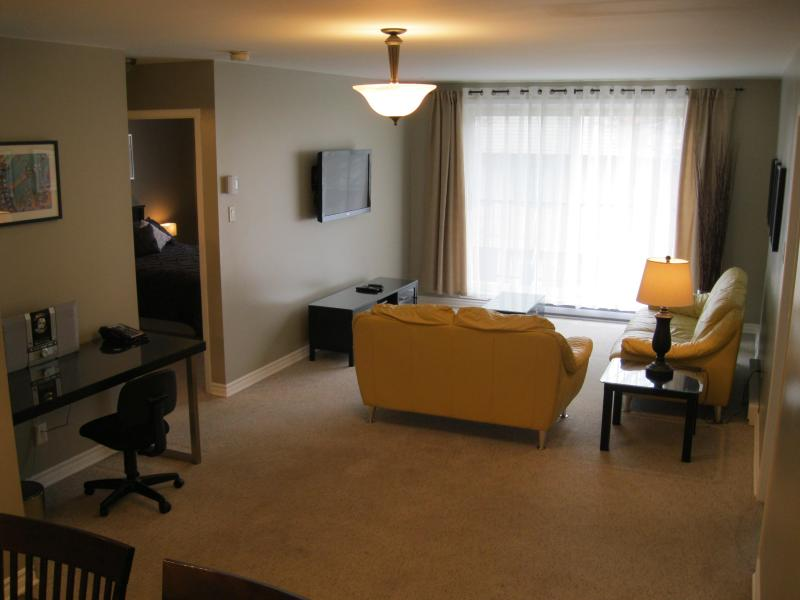 Living room - 2bedroom condo near Downtown Ottawa,Gatineau Park - Gatineau - rentals
