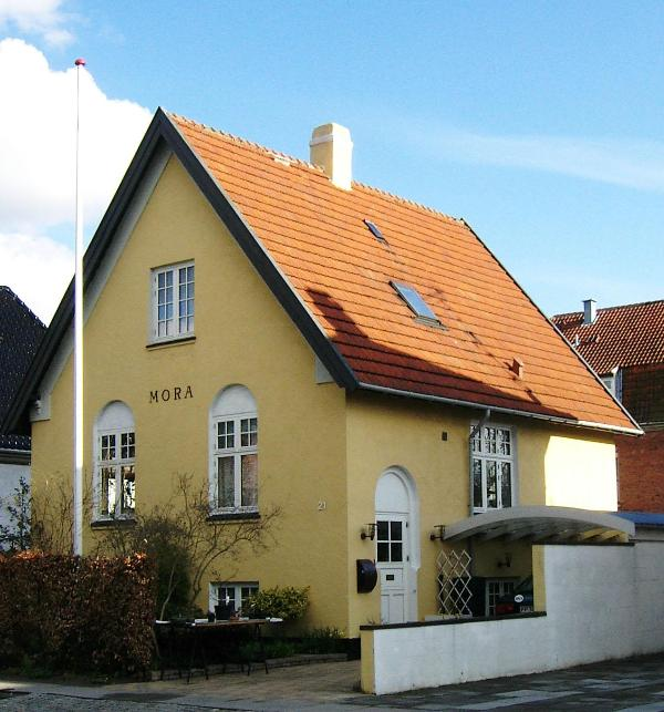 The house - seen from the street