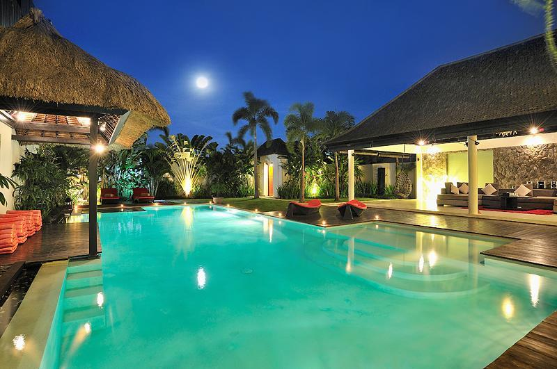 Our stunning pool at night