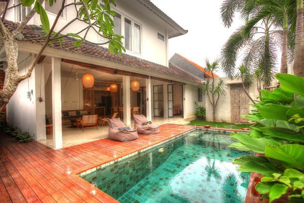 Swimming pool and open living area