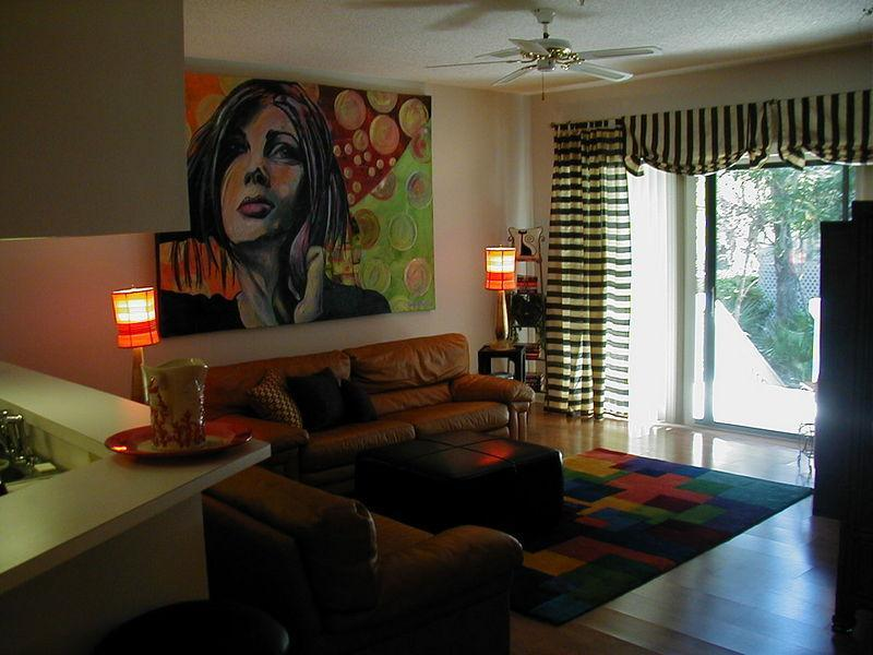Spacious living room - 2 large sofas, patio doors onto the back deck.  Relax and enjoy!