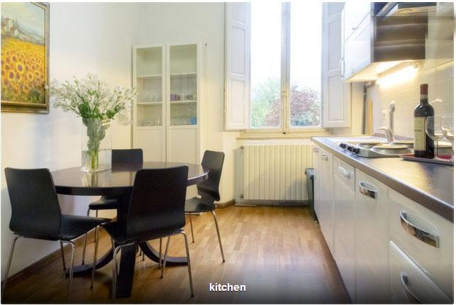 Bright spacious kitchen with parquet floor, new ceramic electric hob, washing machine etc