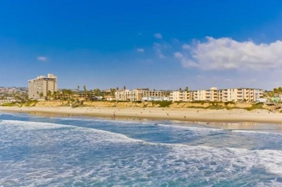 Crystal Pier view of ocean towards Ocean Point. - Mitchell's Poolside Paradise at Ocean Point - San Diego - rentals