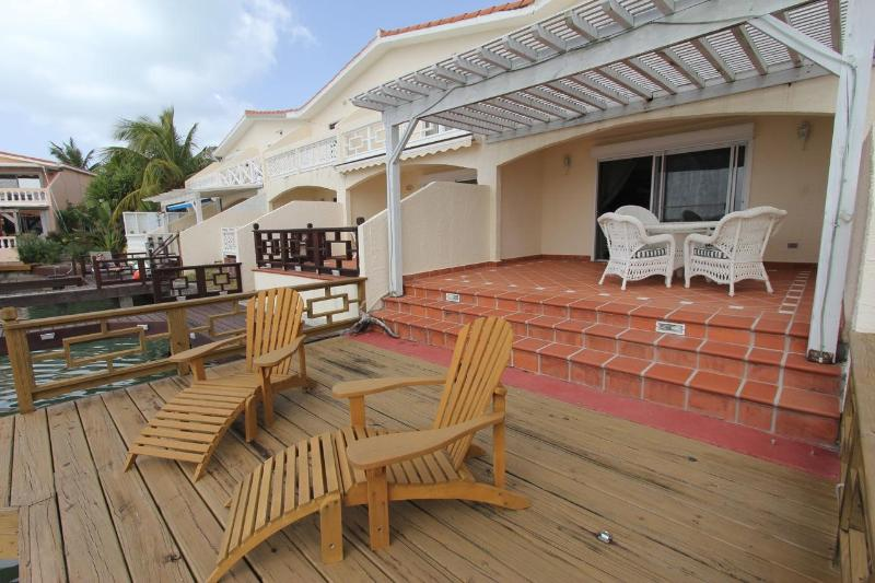 Outside patio and deck
