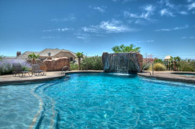 Fantastic Pool with Awesome water fall feature - large hot tub and lots of sun