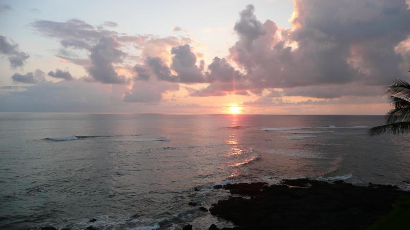 Sunset view from the lanai, facing South West