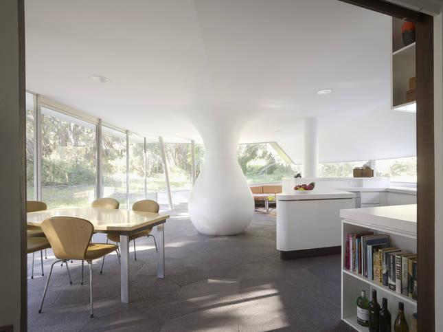 The airy living space