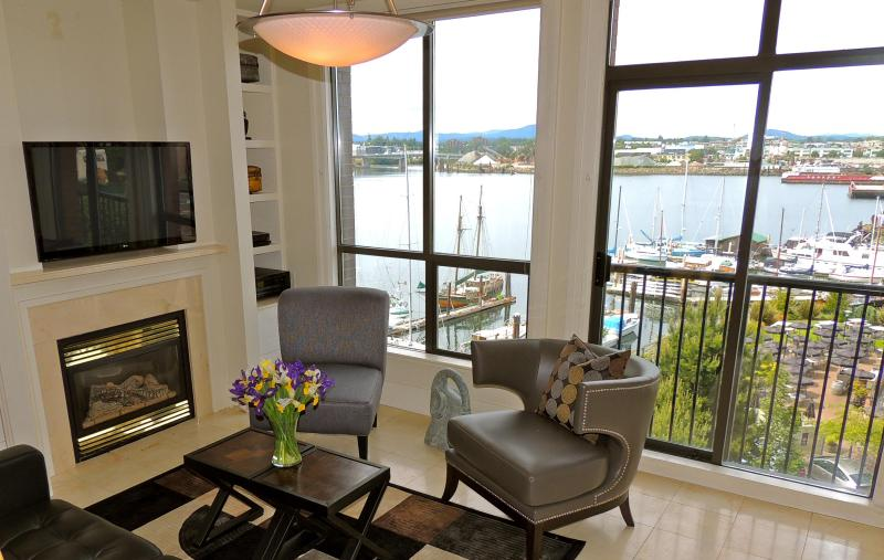 Living Room With Harbour View