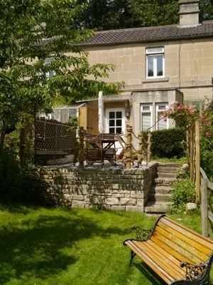 Fishermen's Retreat from the garden beside the brook in an Area of Outstanding Natural Beauty