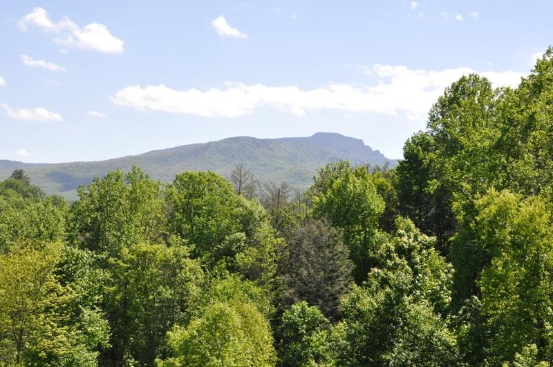 Beautiful Grandfather Mountain view from outdoor deck
