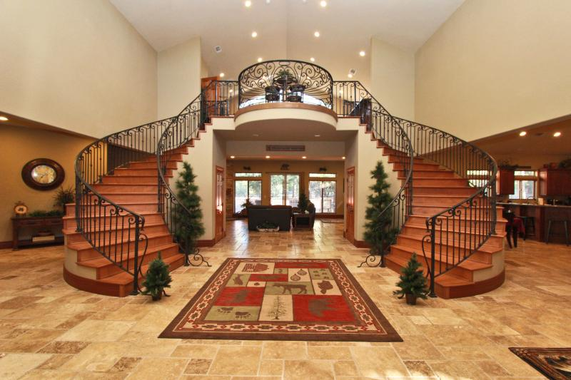 Entry with 25 ft ceilings