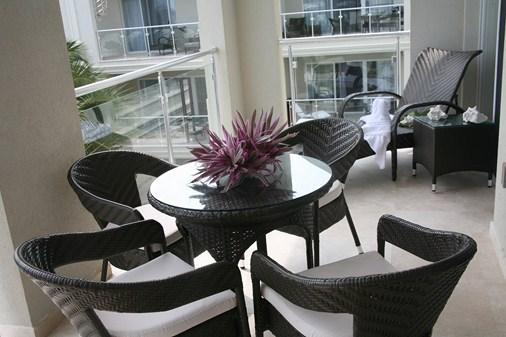 Fully furnished lower level balcony - Luxury 2 BDRM/3 bathroom penthouse, Atrium Resort - Leeward - rentals