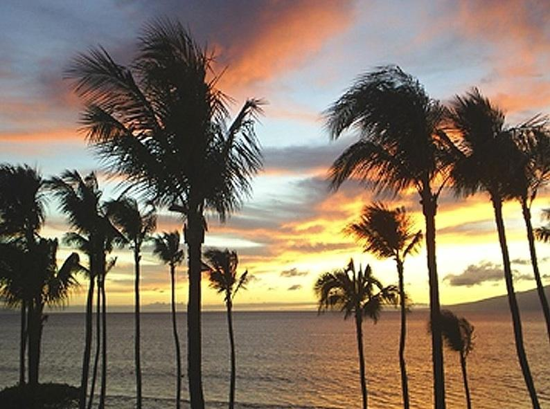 Sunset from our lanai.