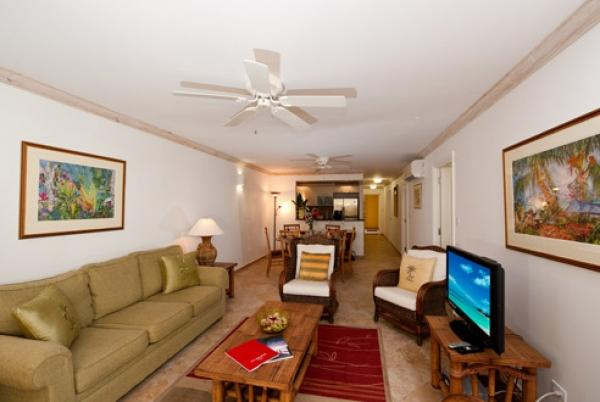 Cozy living area - Terraces 101: Warm Tropical Apartment - Christ Church - rentals