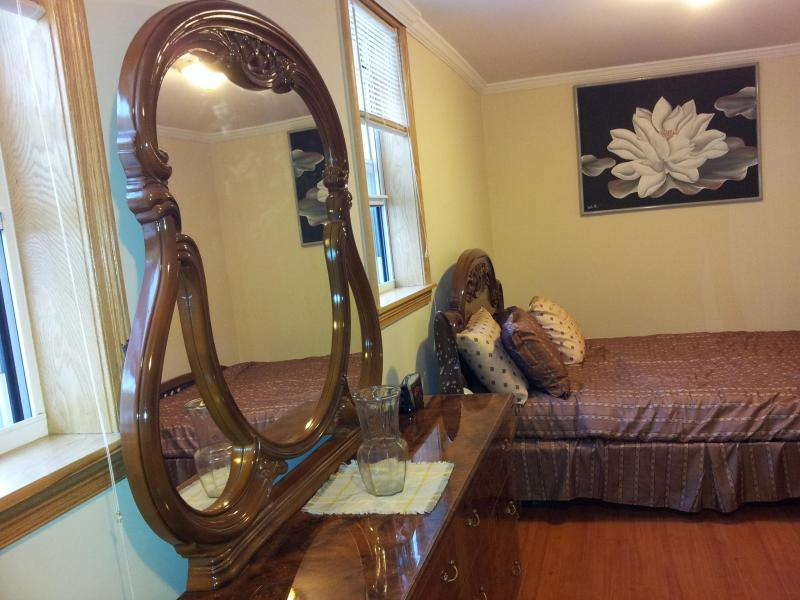 Queen size Italian master bedroom set with private keyed entrance..
