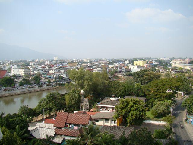 View toward the river and the wholesale market.