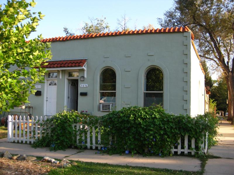 Outside view of the 1890's adobe duplex